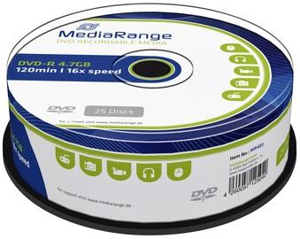 DVD-R MEDIARANGE 4.7GB 120MIN 16X SPEED CAKE 25 25 Stuk