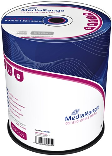 CD-R MEDIARANGE 700MB 80MIN 52X SPEED CAKE 100 100 Stuk