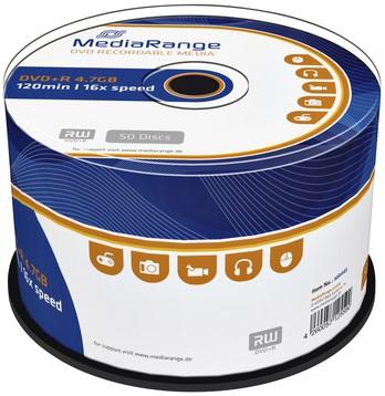 DVD+R MEDIARANGE 4.7GB 120MIN 16X SPEED CAKE 50 50 Stuk