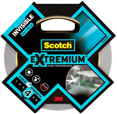 PLAKBAND SCOTCH EXTREMIUM INVISIBLE 48MMX20M TR 1 Stuk