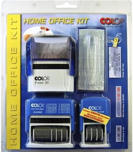STEMPEL COLOP STARTERSET HOME/OFFICE KIT ZWART 1 Stuk