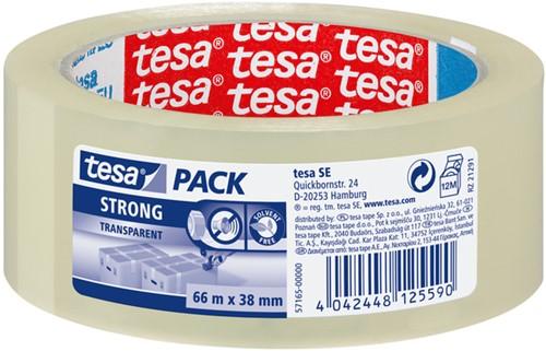 VERPAKTAPE TESA 57165 STRONG 38MMX66M TRANSPARANT 1 Stuk