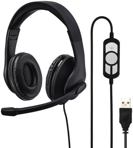 HEADSET HAMA HS-USB300 ZWART 1 Stuk