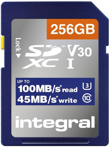 Geheugenkaart Integral SDHC-XC 256GB 1 Stuk