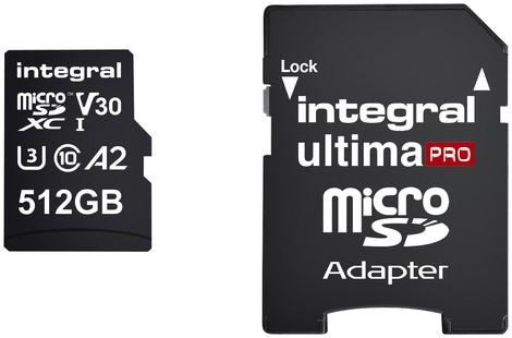 Geheugenkaart Integral microSDXC 512GB 1 Stuk