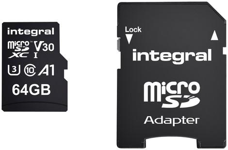 Geheugenkaart Integral microSDXC 64GB 1 Stuk