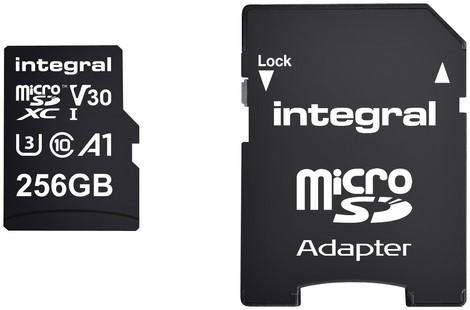 Geheugenkaart Integral microSDXC 256GB 1 Stuk