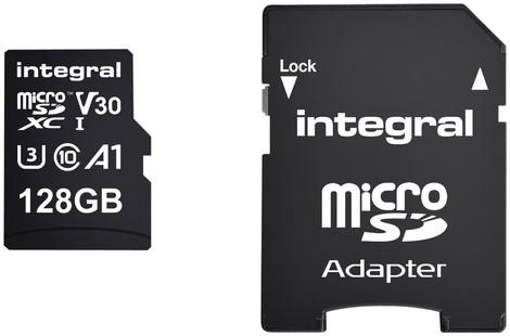 Geheugenkaart Integral microSDXC 128GB 1 Stuk