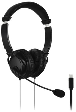 Hoofdtelefoon Kensington USB-C Hi-Fi met microfoon zwart 1 Stuk
