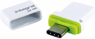 USB-STICK INTEGRAL 32GB USB C + USB 3.1 FUSION DUAL 1 Stuk