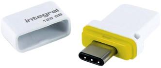 USB-STICK INTEGRAL 128GB USB C + USB 3.1 FUSION DUAL 1 Stuk