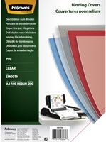 VOORBLAD FELLOWES A3 PVC 200MICRON 100 STUK