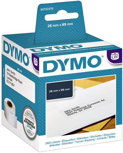 LABEL ETIKET DYMO 99010 89MMX28MM ADRES 2 ROL-2