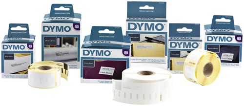 LABEL ETIKET DYMO 104MMX159MM VERZEND WIT 220 STUK-4