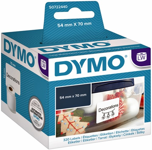 LABEL ETIKET DYMO 99015 54MMX70MM WIT 320 STUK-2