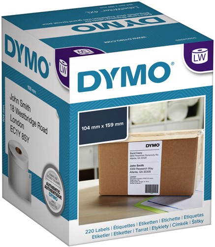 LABEL ETIKET DYMO 104MMX159MM VERZEND WIT 220 STUK-3