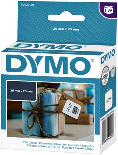 LABEL ETIKET DYMO 11253 25MMX25MM WIT 750 STUK-2