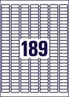 ETIKET AVERY L6008-20 25.4X10MM 3780ST ZILVER 20 VEL-1
