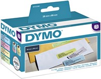 LABEL ETIKET DYMO 99011 89MMX28MM ASS KLEUR 4 ROL-2