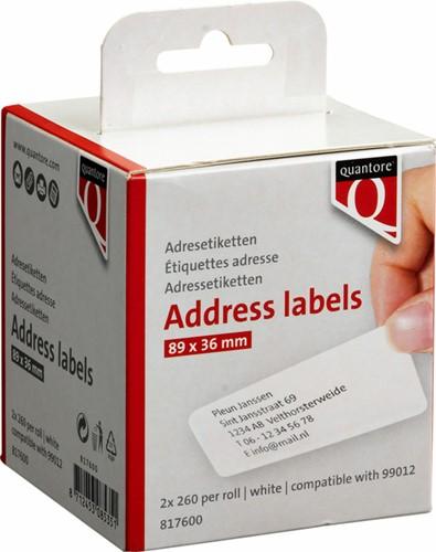 LABEL ETIKET QUANTORE 99012 89MMX36MM ADRES WIT (DYMO) 2 ROL-3