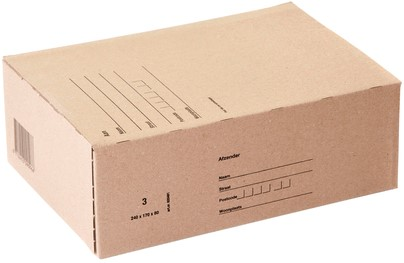 POSTPAKKET BUDGET 3 240X170X80MM BRUIN 1 Stuk