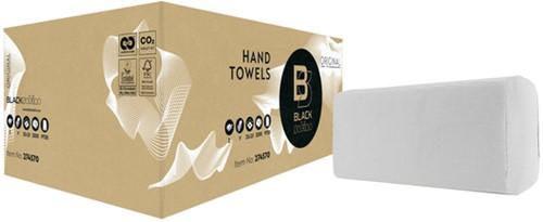 Handdoek BlackSatino 25x23cm 2-laags zigzag 3200st 15 PAK