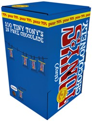 TONY'S CHOCOLONELY TINY PUUR 900GR 100 STUK