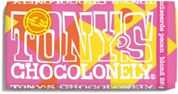TONY'S CHOCOLONELY BLOND 28% PECAN 180GR 1 STUK