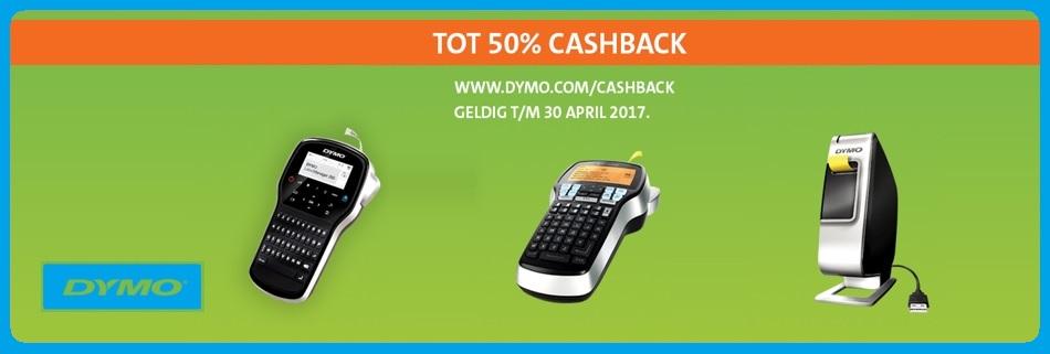 Dymo cashback actie Luto alles voor kantoor.  Alle labelwriters, labelprinters en het hele assortiment van Dymo nu tot 40% cashback.