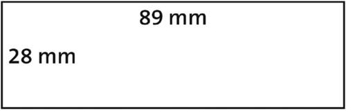 LABEL ETIKET DYMO 99010 89MMX28MM ADRES 2 ROL-3