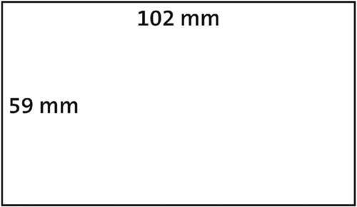 LABEL ETIKET DYMO 102MMX59MM VERZEND WIT 2 ROL A 575ST-1