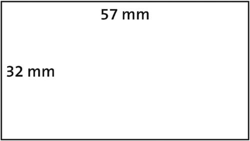 LABEL ETIKET DYMO 11354 57MMX32MM WIT 1000 STUK-2