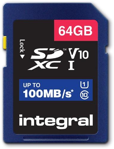 GEHEUGENKAART INTEGRAL SDHC V10 64GB 1 Stuk