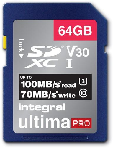 GEHEUGENKAART INTEGRAL SDXC V30 64GB 1 Stuk