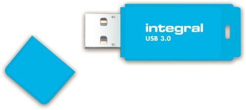 USB-STICK INTEGRAL 64GB 3.0 NEON BLAUW 1 Stuk