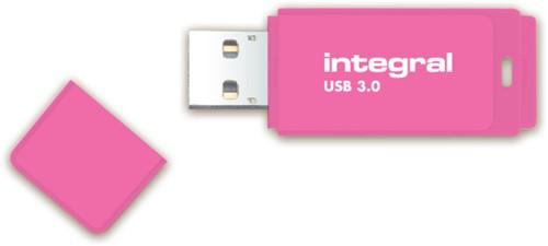 USB-STICK INTEGRAL 64GB 3.0 NEON ROZE 1 STUK