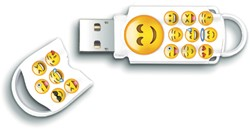 USB-STICK INTEGRAL 16GB 2.0 EMOJI 1 STUK