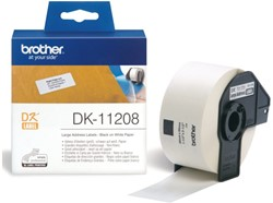 LABEL ETIKET BROTHER DK-11208 38MMX90MM ADRES WIT 400 LABEL