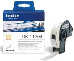 LABEL ETIKET BROTHER DK-11204 17MMX54MM WIT 400 LABEL