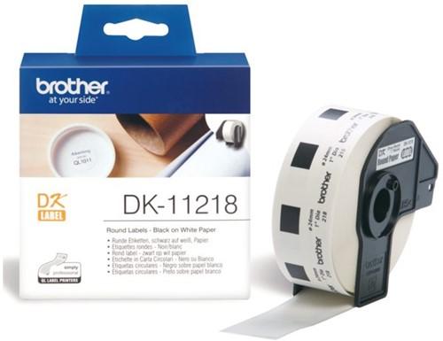 LABEL ETIKET BROTHER DK-11218 24MM ROND 1000 LABEL