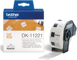 LABEL ETIKET BROTHER DK-11221 23MMX23MM WIT 1000 LABEL