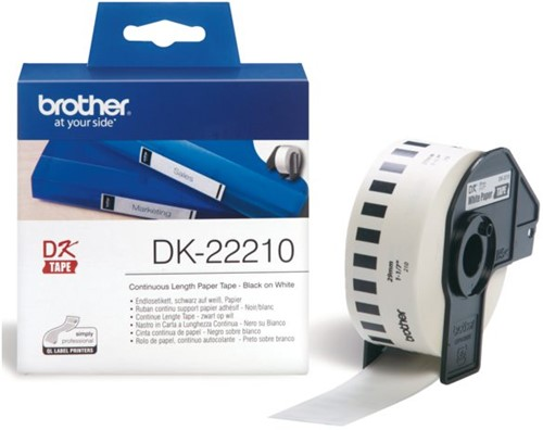 LABEL ETIKET BROTHER DK-22210 29MMX30.48M THERM WT 30.48 METER