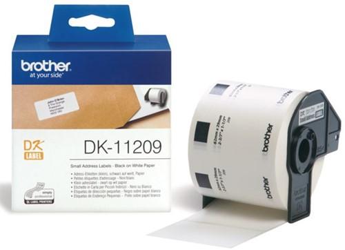 LABEL ETIKET BROTHER DK-11209 29MMX62MM ADRES WIT 800 LABEL