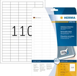 ETIKET HERMA 4210 MOVABLE A4 38.1X12.7MM 2750ST WT 25 VEL