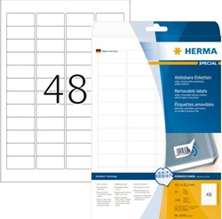 ETIKET HERMA 4346 45.7X21.2MM MOVABLE A4 1200ST WT 25 VEL