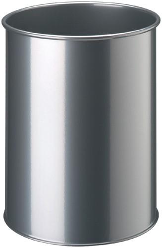 PAPIERBAK DURABLE 15LTR ROND ZILVERMETALLIC 1 Stuk