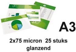 LAMINEERHOES GBC A3 2X75MICRON GLANS 25 STUK