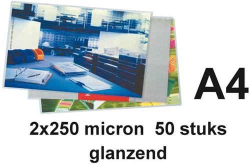 LAMINEERHOES GBC A4 2X250MICRON 50 STUK