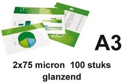 LAMINEERHOES GBC A3 2X75MICRON GLANS 100 STUK