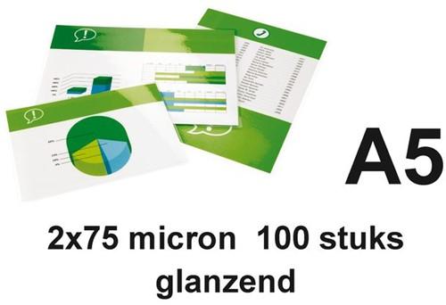 LAMINEERHOES GBC A5 2X75MICRON GLANS 100 STUK